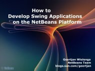 How to Develop Swing Applications on the NetBeans Platform