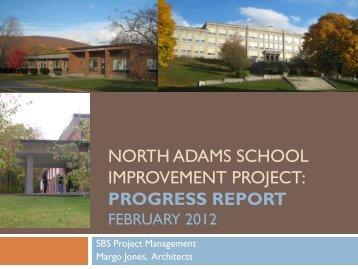 North Adams School Improvement Progress Report February 2012