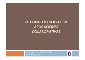EL CONTEXTO SOCIAL EN APLICACIONES COLABORATIVAS - LITE