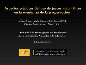 Aspectos prácticos del uso de jueces automáticos en la ... - LITE