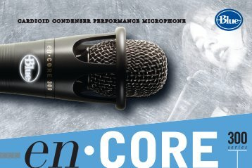 en·core 300 Manual - Blue Microphones