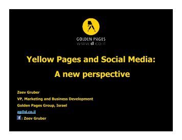 Yellow Pages and Social Media: A new perspective