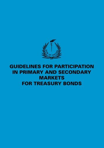 guidelines for participation in primary and ... - Bank of Tanzania