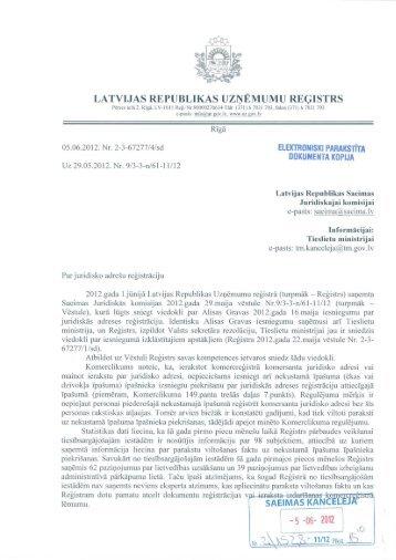 LATVIJAS REPUBLIKAS UZŅĒMUMU REĢISTRS