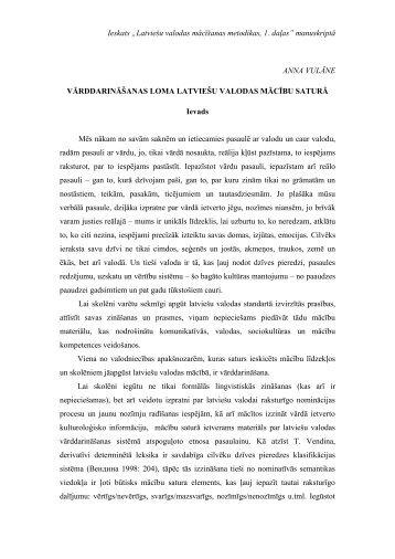 """Ieskats """"Latviešu valodas mācīšanas metodikas, 1 ... - bilingvals.lv"""