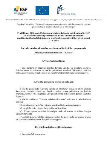 """Projekta 1.aktivitāte """"Valsts valodas programmu ... - bilingvals.lv"""