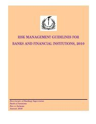 risk management guidelines for banks and ... - Bank of Tanzania
