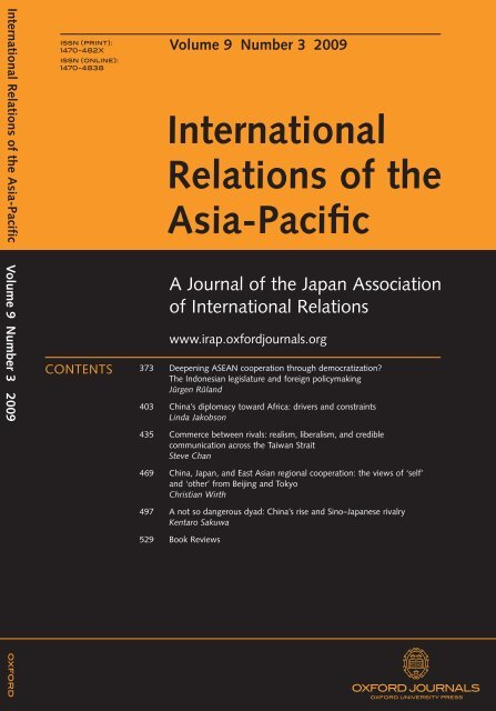 Front Matter (PDF)   International Relations Of The Asia Pacific