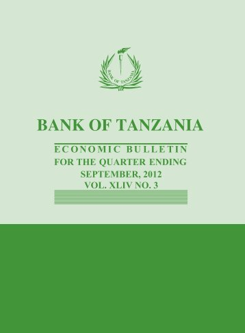 QEB SEP 2012.pdf - Bank of Tanzania