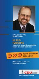 klaus raschke - CDU Oldenburg