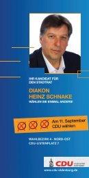 dIakon hEInZ schnakE - CDU Oldenburg