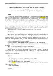 L'AUGMENTATION DU NOMBRE DE RUCHES DE 100 ... - Apimondia