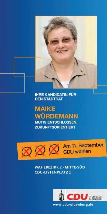 mAikE wÜrdEmAnn - CDU Oldenburg