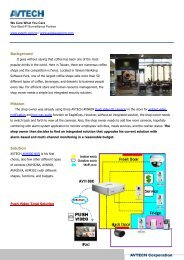 Success Story: Coffee Shop Surveillance and Automatic - AVTECH
