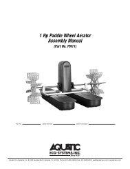 1 Hp Paddle Wheel Aerator Assembly Manual - Aquatic Eco ...
