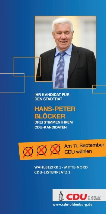 Kandidatenkarte zum Download - CDU Oldenburg