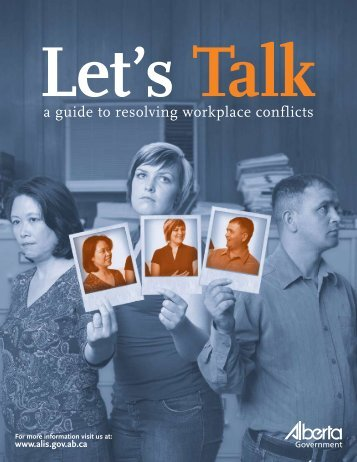 Let's Talk: A guide to resolving workplace conflicts - Jobsearchonline