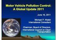 Motor Vehicle Pollution Control: A Global Update 2011 - ptnss