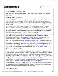 Windows 8 cheat sheet