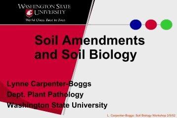 L. Carpenter-Boggs - Washington State University