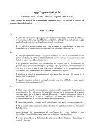 Nuove norme in materia di procedimento amministrativo ... - Assaereo
