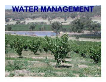 WATER MANAGEMENT - WSU-TFREC Horticulture