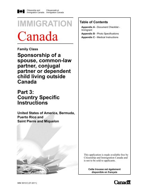 Appendix A - Document Checklist - SOS Canada 2000