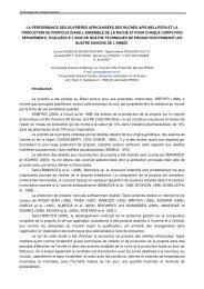 F-Werte und Variationskoeffizient der ... - Apimondia