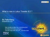 What is new in Lotus Traveler 8.5 ? Bo Falkenberg - DanNotes
