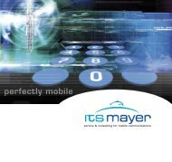 service & consulting for mobile communications - Logo ITS Mayer