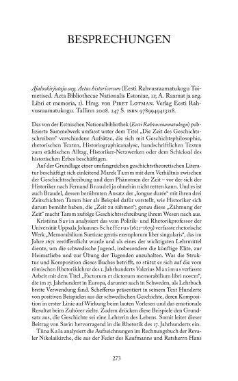 Ajalookirjutaja aeg. Aetas historicorum (von Arvo Tering)