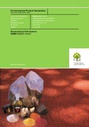 Environmental Product Declaration KEIMFARBEN GmbH