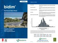 Bidim A Range Technical Data Sheet