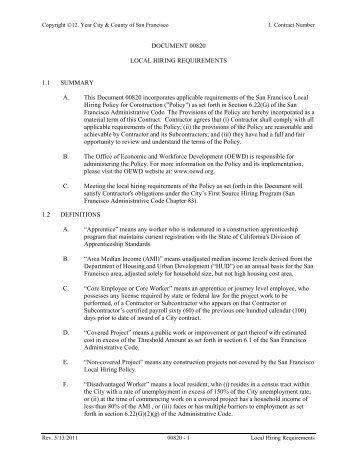 Presentation of tender documents