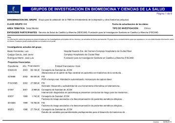 grupos de investigacion en biomedicina y ciencias de la salud