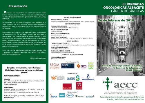 iii jornadas oncológicas albacete cáncer de páncreas - Facultad de ...