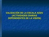 VALIDACIÓN DE LA ESCALA ADDV (ACTIVIDADES DIARIAS ...