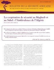 bulletin de la sécurité africaine - Africa Center for Strategic Studies