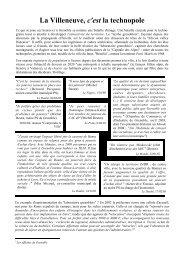 La Villeneuve, c'est la technopole - Pièces et Main d'Oeuvre