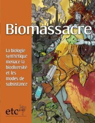 Biomassacre - ETC Group
