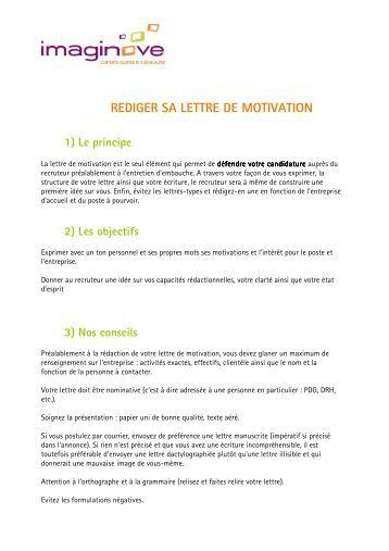 personnaliser le cv et la lettre de motivation