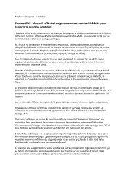 Sommet 5+5 : dix chefs d'Etat et de gouvernement ... - JFC Conseil
