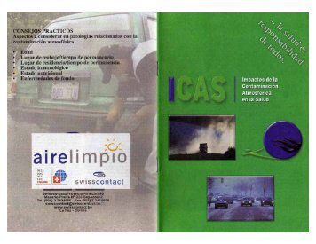 Cartilla Impacto de Contaminación Atmosférica en la ... - swisscontact