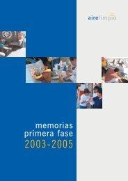 Memorias Primera Fase Aire Limpio 2003 – 2005 - swisscontact