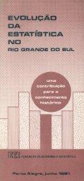 Evolução da Estatística no Rio Grande do Sul - FEE