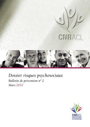 Dossier risques psychosociaux - Santé - Sécurité au Travail dans ...