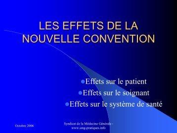 Les effets de la nouvelle convention - Comprendre pour agir