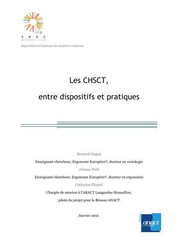 Table Ronde 2 QVT EP Annexe C CHSCT ANACT - Ministère du ...