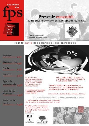 prevenir ensemble les risques d'atteinte psychologique au travail