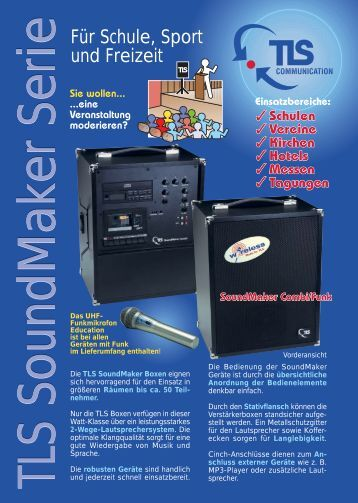 Flyer SoundMaker - TLS Communication GmbH